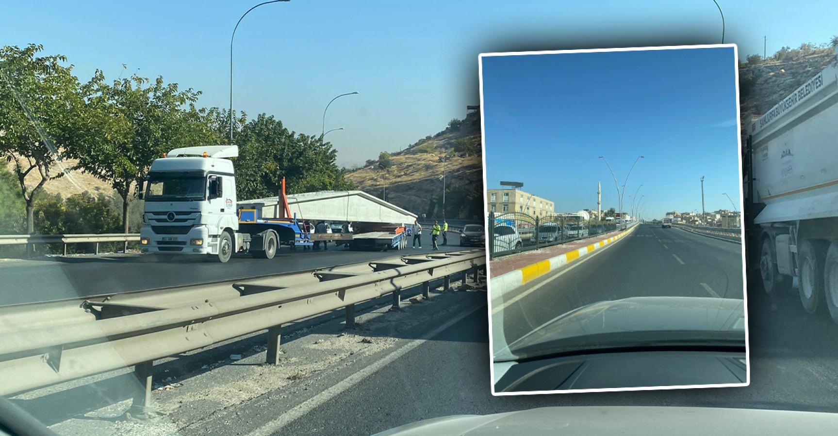 Urfa'da tır kazası trafiği felç etti
