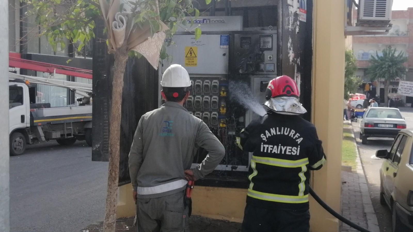 Urfa'da trafo bomba gibi patladı!