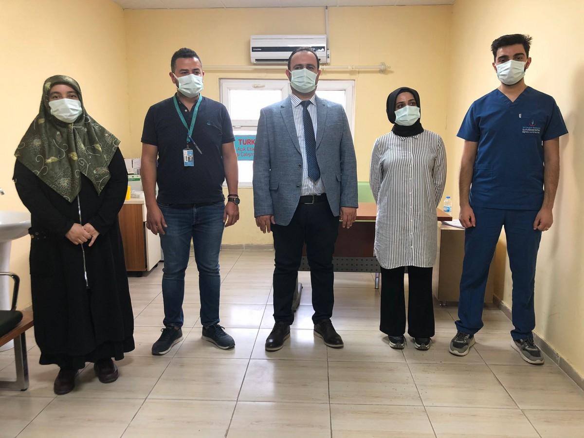 Urfa'da Turkovac aşısının ilk dozu yapıldı