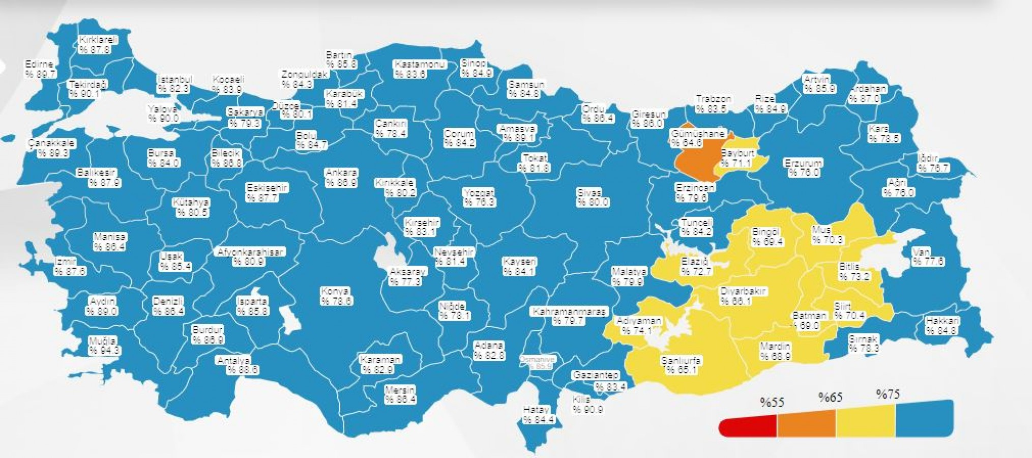 Urfa haritada sarı kategoriye geçti!
