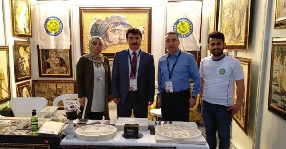 Urfa taşı için İzmir'deki fuarda stand açtılar