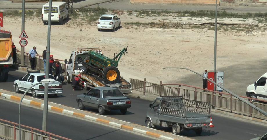 Urfa'da meydana gelen kazada facianın eşiğinden dönüldü! (Videolu)