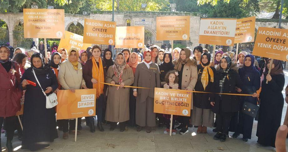 Urfalı kadınlar şiddete karşı turuncu çizgi çekti