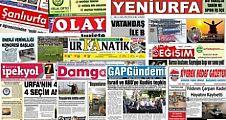 19 Eylül Şanlıurfa Gazete Manşetleri - 2018
