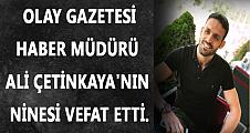 Gazeteci Ali Çetinkaya'nın acı günü