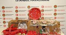 Kına malzemesinin içinden 300 bin lira değerinde uyuşturucu çıktı