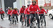 """Şanlıurfa'da """"Balıkları incitme bisikletten vazgeçme"""" projesi"""