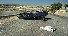 Takla atan araçta: 3 yaralı
