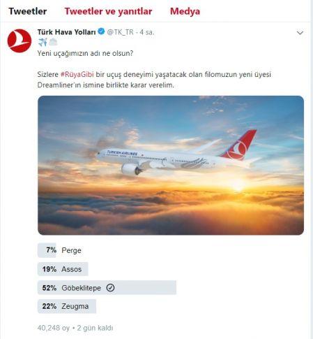 Vali Erin: THY'nin Yeni Uçağının İsmi İçin Oy İstedi