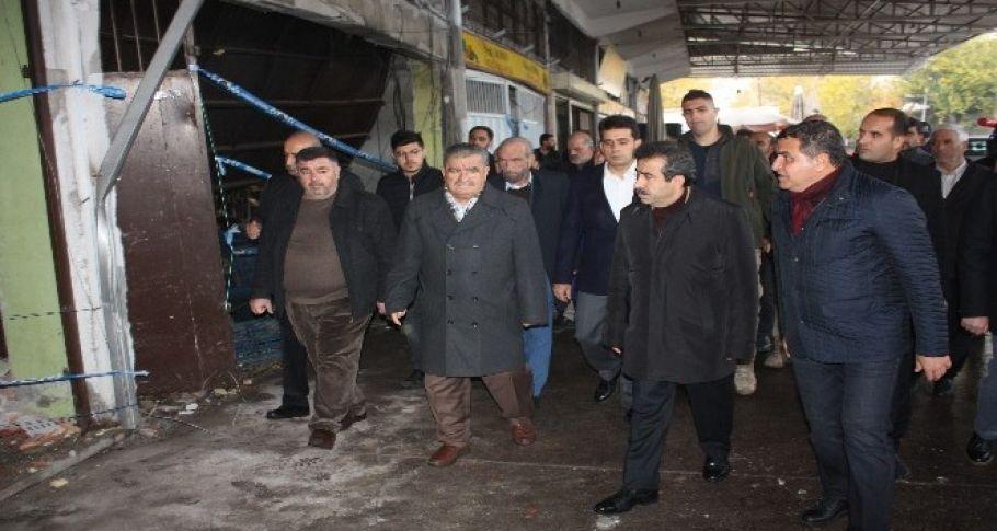 Vali Güzeloğlu, patlama alanını inceledi