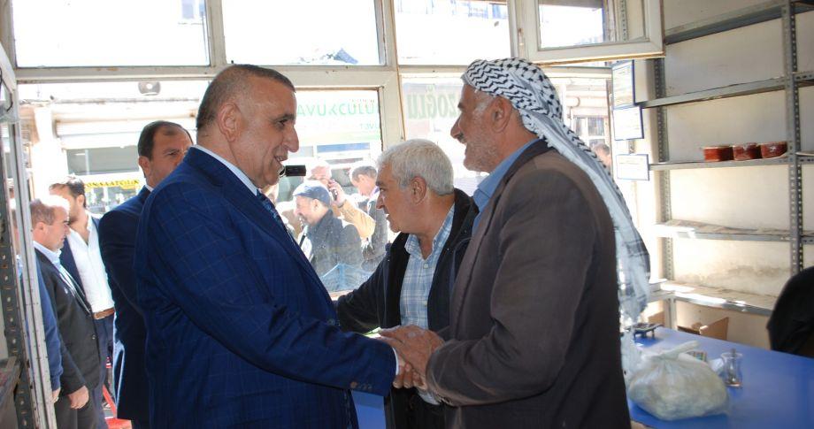 Vekil Akay, esnaf ziyaretlerinde(videolu)