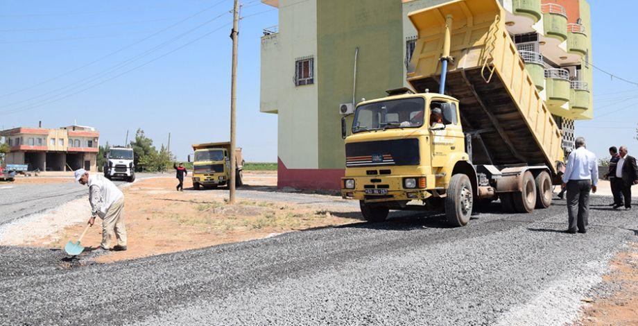 Viranşehir kırsalında yol yapım çalışması
