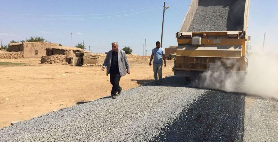 Viranşehir'de asfalt yol yapım çalışmaları devam ediyor