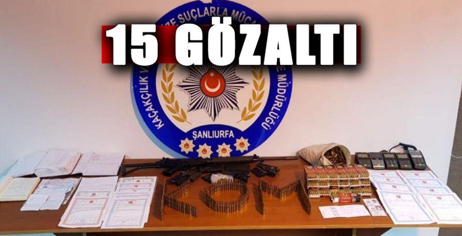Viranşehir'de tefecilik operasyonu!