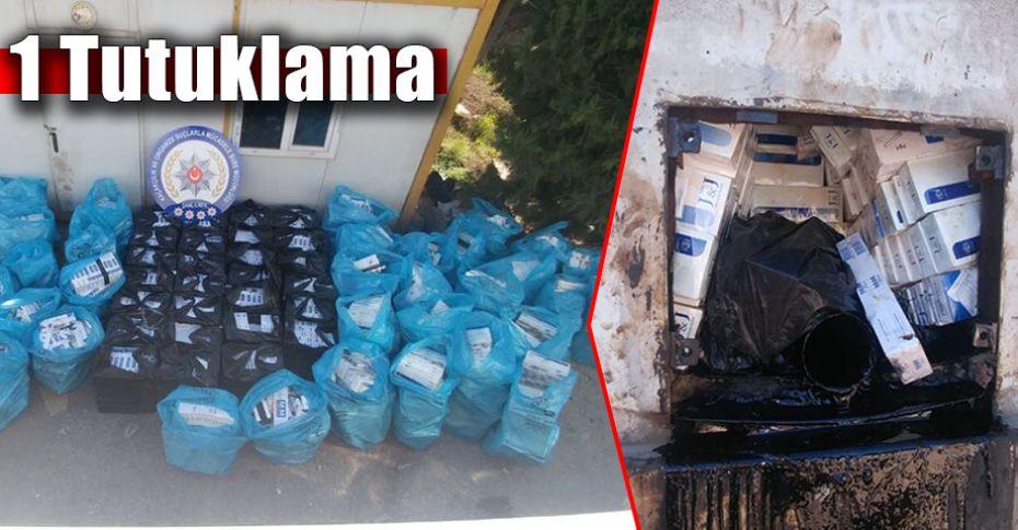 Yakıt tankerine zulalanmış 43 bin 200 paket kaçak sigara!