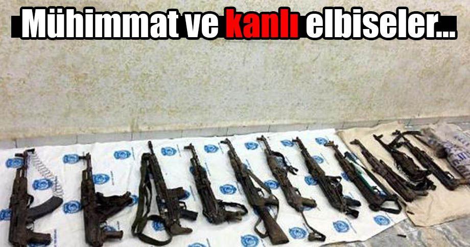 Yasaklı mahallede PKK'nın silahları bulundu