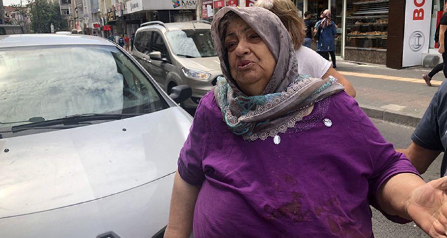 Yaşlı kadına gaspçı şoku