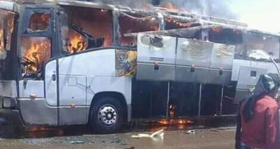 Yemen'de otobüs yandı: 3 ölü, 7 yaralı
