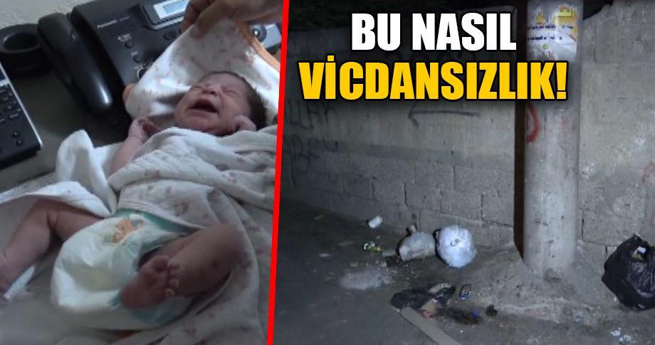 Yeni doğmuş bebek çöp kenarına atıldı