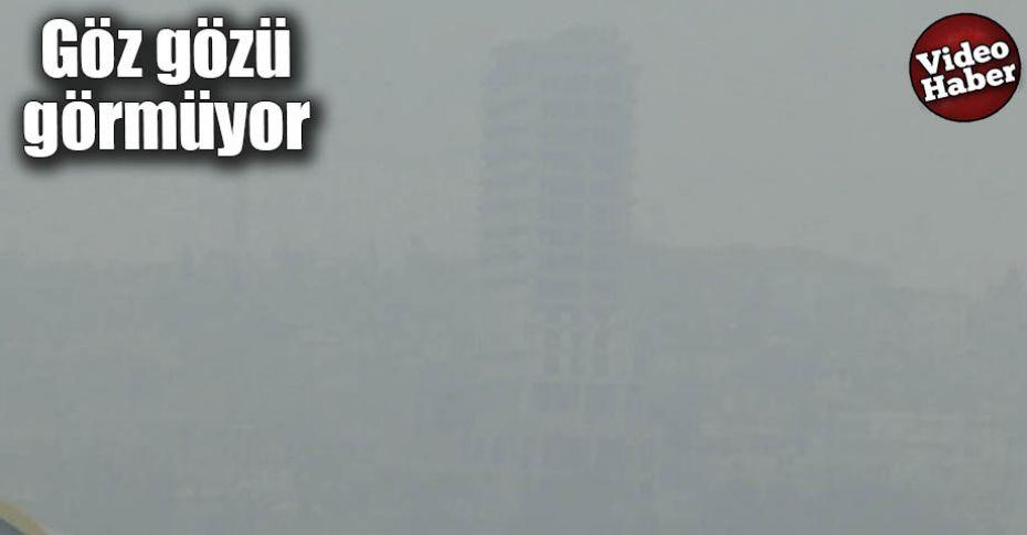Yoğun sis sürücüleri zorladı